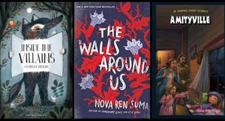TBR-082418 horror kidlit books children's books ghosts graphic novels