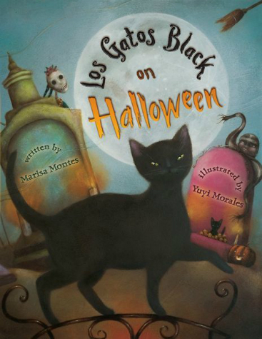 Los-Gatos-Black-on-Halloween-cover-Marisa-Montes-Yuyi-Morales